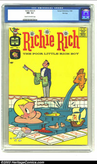 Richie Rich #1 File Copy (Harvey, 1960) CGC NM- 9.2 Cream to off-white pages. Harvey had quite a lineup of funny books i...
