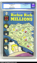 Silver Age (1956-1969):Cartoon Character, Richie Rich Millions #1 File Copy (Harvey, 1961) CGC NM- 9.2 Cream to off-white pages. Little Dot, Little Lotta, and Pee Wee...