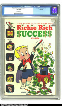 Richie Rich Success Stories #1 File Copy (Harvey, 1964) CGC NM 9.4 Off-white pages. It's square bound; it's Giant Size;...