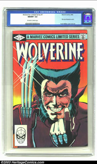 Wolverine (limited series) #1 (Marvel, 1982) CGC NM/MT 9.8 Off-white to white pages. A brilliant combination in 1982 was...