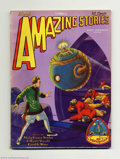 Pulps:Science Fiction, Amazing Stories V3 #12 (Ziff-Davis, 1929) Condition: FN-. Thisuncommon pulp has a great cover by Frank R. Paul with the fir...