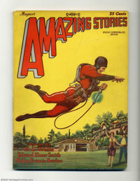 Amazing Stories V3, #5 (Ziff-Davis, 1928) Condition: Fine. This important pulp features the first appearance of Buck Rog...