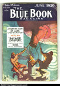 Pulps:Hero, Blue Book Group (McCall, 1929-1930) Condition: Average VG. All eight issues in this group lot contain Tarzan or John Carter ... (Total: 8 items Item)