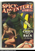 """Pulps:Horror, Spicy Adventure Vol. 14 #1 (Culture, 1941) Condition: VG. Wardprovided this graphic painted cover of two """"Good Girls"""", one ..."""