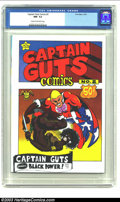 Bronze Age (1970-1979):Alternative/Underground, Captain Guts #2 (Print Mint, 1970) CGC NM- 9.2 Cream to off-white pages. Captain Guts smashes black power in this 1970 romp ...