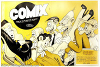 "Comix - Memorabilia Poster, ""Art Institute of Chicago"" (1973). This poster was created to promote comic strip..."