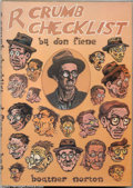 Modern Age (1980-Present):Alternative/Underground, R. Crumb Checklist Hardback - Presentation Copy (Boatner Norton Press, 1981) Condition: NM. In the realm of Crumb collectibl...