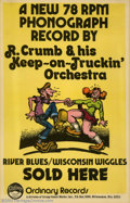 Silver Age (1956-1969):Alternative/Underground, Robert Crumb - Memorabilia Posters For R. Crumb And His Keep OnTruckin' Orchestra (Krupp Comic Works, undated). Here is a v...