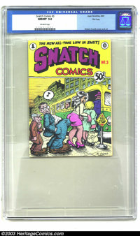 Snatch Comics #3 (First Printing) Don Donahue File Copy (Apex Novelties, 1969) CGC NM/MT 9.8 Off-white pages. This editi...