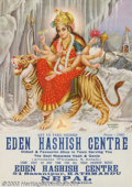 Silver Age (1956-1969):Alternative/Underground, Eden Hashish Centre Poster (undated). The perfect thing to brightenup any hash house, opium parlor or den of iniquity, this...