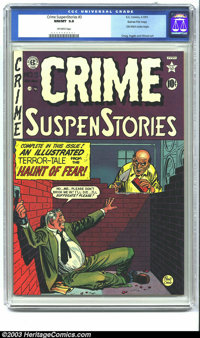 Crime SuspenStories #3 Gaines File pedigree (EC, 1951) CGC NM/MT 9.8 Off-white pages. If you're not amazed by the stunni...