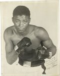 Boxing Collectibles:Autographs, Floyd Patterson Signed Large Photograph. Floyd Patterson, at 21 became the youngest man to win the world heavyweight champi...