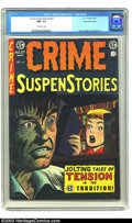 Golden Age (1938-1955):Crime, Crime SuspenStories #27 Gaines File pedigree 9/12 (EC, 1955) CGC NM- 9.2 Off-white pages. When Bill Gaines had the foresight...