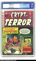 Golden Age (1938-1955):Superhero, Crypt of Terror #18 Gaines File pedigree 3/10 (EC, 1950) CGC NM/MT 9.8 Off-white to white pages. Cover artist Johnny Craig w...