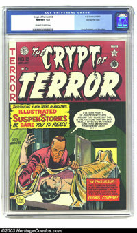 Crypt of Terror #18 Gaines File pedigree 3/10 (EC, 1950) CGC NM/MT 9.8 Off-white to white pages. Cover artist Johnny Cra...