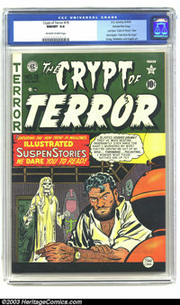 Crypt of Terror #19 Gaines File pedigree 3/11 (EC, 1950) CGC NM/MT 9.8 Off-white to white pages. Here's another remarkab...