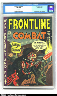 Frontline Combat #1 Gaines File pedigree 6/9 (EC, 1951) CGC NM+ 9.6 Off-white pages. Here's a scintillating copy of the...