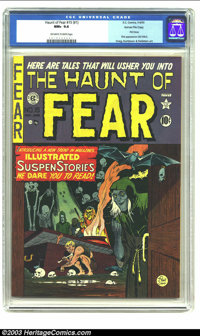 The Haunt of Fear #15 (#1) Gaines File pedigree 3/11 (EC, 1950) CGC NM+ 9.6 Off-white to white pages. As first issues go...