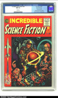 Golden Age (1938-1955):Horror, Incredible Science Fiction #30 Gaines File pedigree 3/12 (EC, 1955)CGC NM 9.4 White pages. One of Jack Davis' most memorabl...