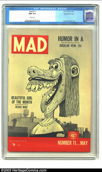 Mad #11 Gaines File pedigree 4/12 (EC, 1954) CGC NM 9.4 White pages. Basil Wolverton fits right in with the regular dera...