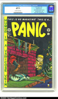 Golden Age (1938-1955):Humor, Panic #1 Gaines File pedigree 4/12 (EC, 1954) CGC NM 9.4 Off-white to white pages. The EC boys had way too many screwy ideas...