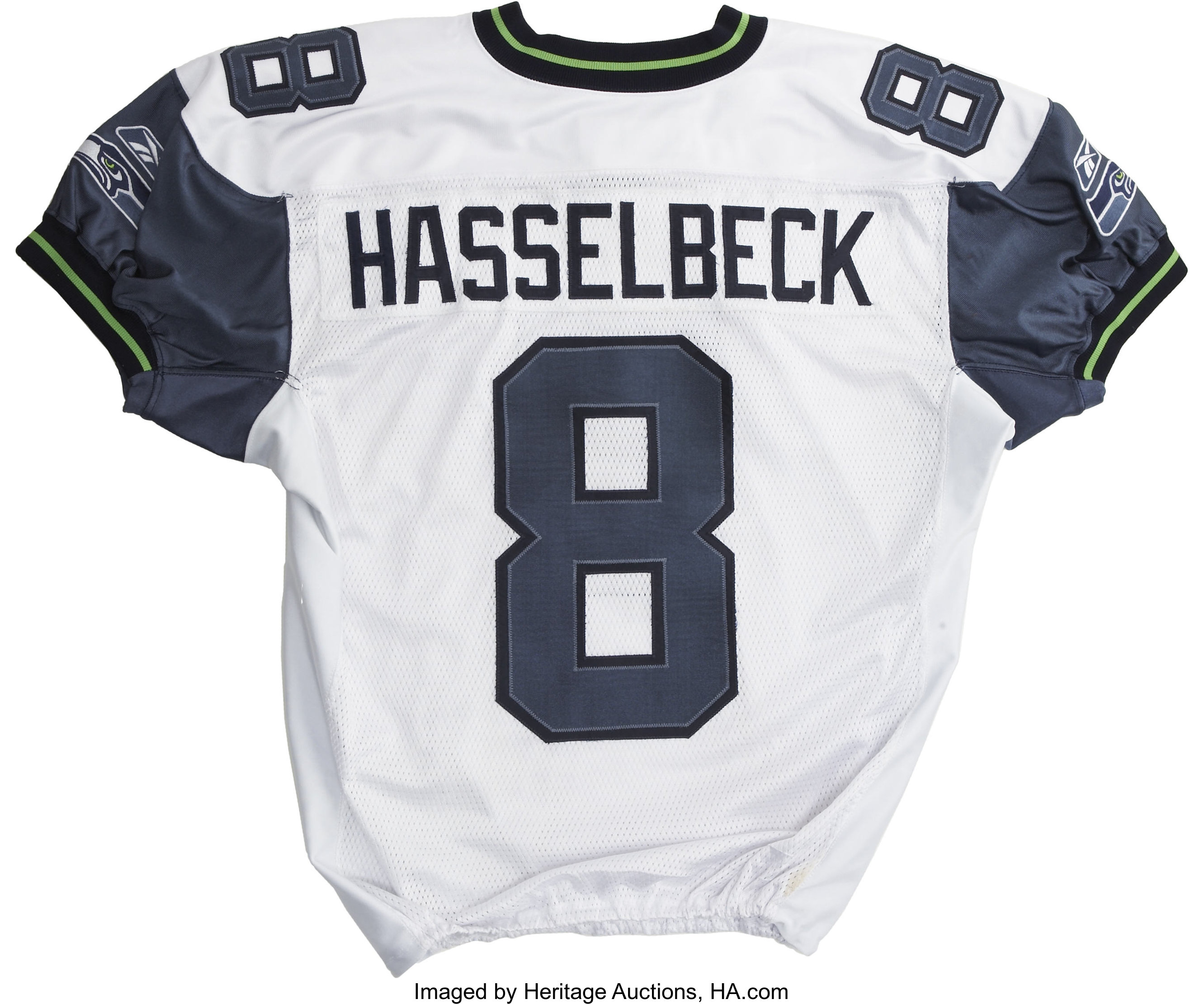 online store 2a197 1fb39 2003 Matt Hasselbeck Game Worn Jersey. After coming into the ...