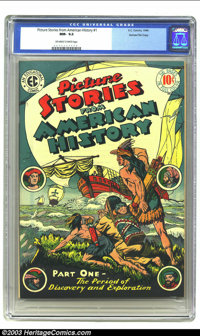 Picture Stories From American History #1 Gaines File pedigree 3/11 (EC, 1946) CGC NM- 9.2 Off-white to white pages. This...