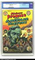 """Golden Age (1938-1955):Non-Fiction, Picture Stories From American History #4 Gaines File pedigree 7/10(EC, 1947) CGC VF/NM 9.0 Off-white to white pages. This """"..."""