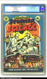 Picture Stories from Science #2 Gaines File pedigree 2/11 (EC, 1947) CGC NM- 9.2 Off-white to white pages. The second of...
