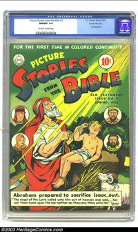 Picture Stories from the Bible Old Testament #3 Gaines File pedigree (DC, 1943) CGC NM/MT 9.8 Off-white to white pages...