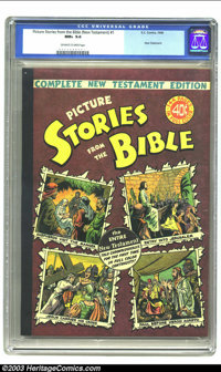 Picture Stories from the Bible Complete New Testament Edition (EC, 1945) CGC NM+ 9.6 Off-white to white pages. This huge...