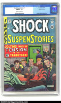 Golden Age (1938-1955):Horror, Shock SuspenStories #1 Gaines File pedigree 3/11 (EC, 1952) CGCNM/MT 9.8 Off-white to white pages. Al Feldstein celebrated ...