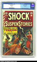 "Golden Age (1938-1955):Horror, Shock SuspenStories #10 Gaines File pedigree 3/12 (EC, 1953) CGC NM9.4 White pages. Jack Kamen worked his ""good girl"" speci..."