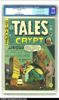 Golden Age (1938-1955):Horror, Tales From the Crypt #20 (EC, 1950) CGC VF 8.0 Off-white pages.This first issue of EC's most famous horror title was actual...