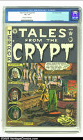 Golden Age (1938-1955):Horror, Tales From the Crypt #25 (EC, 1951) CGC VF- 7.5 Off-white to whitepages. This pretty copy comes soooo close to high-grade, ...