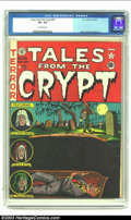 Golden Age (1938-1955):Horror, Tales From the Crypt #28 (EC, 1952) CGC VF+ 8.5 Off-white pages.One of Al Feldstein's more famous covers punctuates this is...