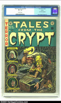Golden Age (1938-1955):Horror, Tales From the Crypt #29 Aurora pedigree (EC, 1952) CGC VF- 7.5Off-white pages. Beginning with this cover, Jack Davis would...