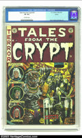 Golden Age (1938-1955):Horror, Tales From the Crypt #33 Aurora pedigree (EC, 1952) CGC VF 8.0Off-white pages. Struggling to describe one of our favorite J...