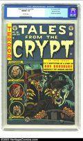 Golden Age (1938-1955):Horror, Tales From the Crypt #36 Gaines File pedigree 2/10 (EC, 1953) CGCNM/MT 9.8 Off-white pages. Jack Davis not only does the co...