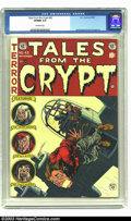 Golden Age (1938-1955):Horror, Tales From the Crypt #43 (EC, 1954) CGC VF/NM 9.0 Off-white pages.Bombs away! This issue actually has a story with the scen...
