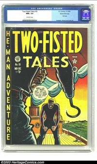 Two-Fisted Tales #18 Gaines File pedigree (EC, 1950) CGC NM+ 9.6 Off-white pages. Harvey Kurtzman, Al Feldstein, Wally W...