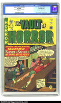 Golden Age (1938-1955):Horror, Vault of Horror #12 (#1) White Mountain pedigree (EC, 1950) CGC VF8.0 Off-white pages. This is one of the very first EC bon...