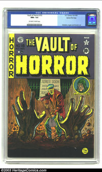 Vault of Horror #15 Gaines File pedigree 4/10 (EC, 1950) CGC NM+ 9.6 Off-white to white pages. If you lose out on one of...