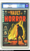 "Golden Age (1938-1955):Horror, Vault of Horror #36 Gaines File pedigree 4/12 (EC, 1954) CGC NM+9.6 Off-white to white pages. ""Simple"" and ""horrific"" are a..."