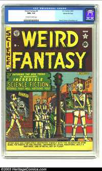 Weird Fantasy #6 Gaines File pedigree 9/12 (EC, 1951) CGC NM+ 9.6 Off-white to white pages. Robot covers are in high dem...