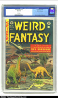 Golden Age (1938-1955):Science Fiction, Weird Fantasy #17 Gaines File pedigree 9/12 (EC, 1953) CGC NM 9.4White pages. This Gaines File copy checks in with the seco...