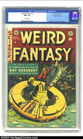 Golden Age (1938-1955):Science Fiction, Weird Fantasy #18 Gaines File pedigree 8/11 (EC, 1953) CGC NM+ 9.6White pages. Al Williamson teamed up with several other a...
