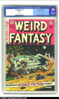 Golden Age (1938-1955):Science Fiction, Weird Fantasy #20 Gaines File pedigree 9/12 (EC, 1953) CGC NM 9.4White pages. Just a sensational copy, rife with color (lov...