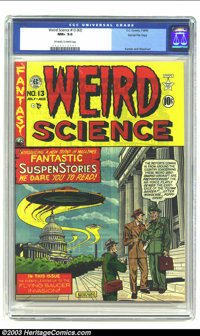 Weird Science 13 (#2) Gaines File pedigree 4/10 (EC, 1950) CGC NM+ 9.6 Off-white to white pages. For the first eight iss...