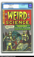 Golden Age (1938-1955):Science Fiction, Weird Science #14 (#3) Gaines File pedigree 8/11 (EC, 1950) CGC NM+9.6 Off-white to white pages. This third issue's end-of-...